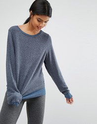Wildfox Couture Wildox Baggy Beach Jumper After Midnig Navy