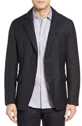 Bugatchi Men's Wool Hybrid Coat Navy