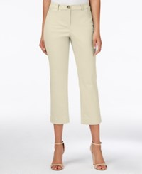 Charter Club Petite Straight Leg Cropped Pants Only At Macy's Sand