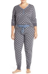 Plus Size Women's Pj Salvage Thermal Pajamas Grey Squirrels