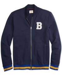 Brooks Brothers Red Fleece Applique Full Zip French Terry Track Jacket Navy