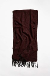 Urban Outfitters Boucle Woven Scarf Maroon