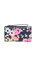 Kate Spade New York Large Continental Wristlet Navy Multi