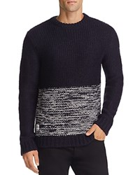 Native Youth Polar Knit Color Block Sweater Navy