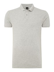 Scotch And Soda Men's Classic Garment Dyed Pique Polo Grey Marl