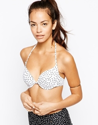 All About Eve Ditsy Mix Up Halter Bikini Top Ditsywhite