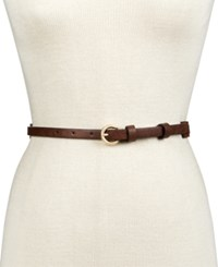 Inc International Concepts Milled Colorblock Skinny Belt Only At Macy's Brown