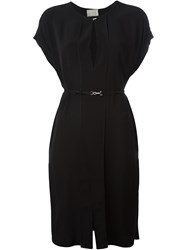 Lanvin Belted Dress Black
