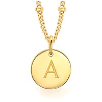 Missoma Women's Initial Charm Necklace A Gold
