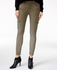 M1858 Kristen Cargo Dark Olive Wash Skinny Jeans Only At Macy's