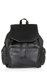 Topshop Textured Faux Leather Backpack