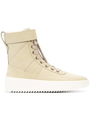 Fear Of God Lace Up Hi Top Sneakers Men Leather Rubber 44 Nude Neutrals