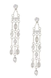 Nordstrom Rack Multi Strand And Bar Cz Chandelier Earrings Metallic