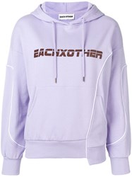 Each X Other Deconstructed Logo Hoodie Purple