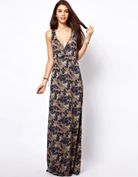 Only Floral Camo Print Maxi Dress Multi