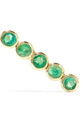 Grace Lee 14 Karat Gold Emerald Earring One Size