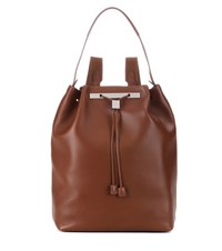 The Row Backpack 11 Leather Backpack Brown