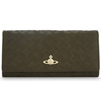 Vivienne Westwood Harrow Leather Continental Wallet Green