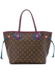 Louis Vuitton Vintage Neverfull Mm Tote Brown