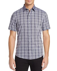 Zachary Prell Leo Check Regular Fit Button Down Shirt Grey