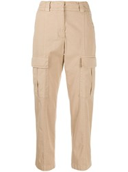 Peserico Cropped Cargo Trousers 60