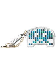 Anya Hindmarch 'Space Invaders Robot' Coin Purse Blue
