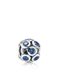Pandora Design Pandora Charm Sterling Silver And Blue Crystal Whimsical Lights Moments Collection Silver Blue