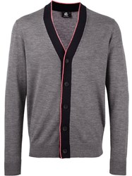 Paul Smith Ps By Contrast Trim V Neck Cardigan