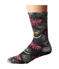 Huf Rabbit Hole Crew Sock Black Swirl Crew Cut Socks Shoes