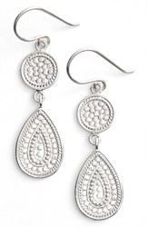 Anna Beck Women's Signature Beaded Double Drop Earrings Silver
