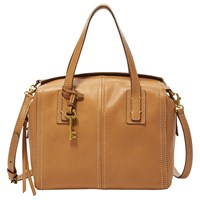 Fossil Emma Leather Satchel Tan