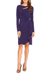 Women's Catherine Catherine Malandrino 'Gertie' Keyhole Twist Front Sheath Dress Mystic