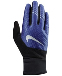 Nike Men's Solid Therma Fit Gloves Deep Royal Blue Black Silver