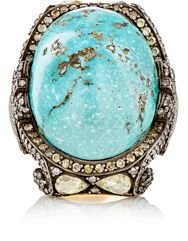 Sevan Bicakci Women's Fancy Diamond And Turquoise Ring Colorless