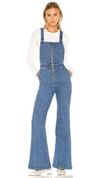 Rolla's Eastcoast Flare Overall In Blue. Eco Judy Blue
