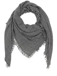 Faliero Sarti Prince Of Wales Cashmere And Wool Scarf Black