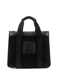 Chanel Pre Owned Sports Line Diamond Quilted Details Logo Tote 60