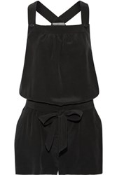 Joie Baltazar Silk Playsuit Black
