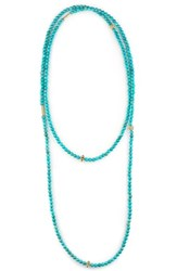 Lagos Women's 'Caviar Icon' Strand Necklace Turquoise Gold
