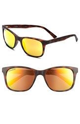 Converse 55Mm Retro Sunglasses Matte Tortoise Mirror