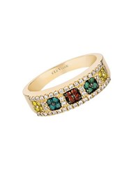 Le Vian Exotics Multi Color Diamond And 14K Honey Gold Ring