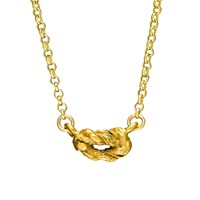 Chupi Forget Me Knot Necklace In Gold