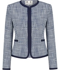 Austin Reed Blue And White Tweed Jacket