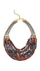 David Aubrey Hailey Layered Necklace Gold Multi