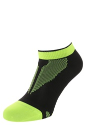 Nike Performance Sports Socks Black Neon Green