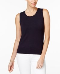 Charter Club Knit Shell Only At Macy's Deepest Navy