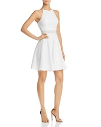 Aqua Eyelet Fit And Flare Dress 100 Exclusive White