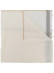 Massimo Alba Fringed Scarf Nude And Neutrals