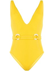 Suboo Ines Deep V Swimsuit Yellow