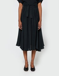 Black Crane Wrap Skirt In Black